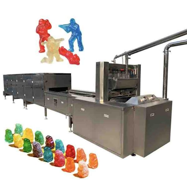 Commercial vitamins Jelly Candy Depositin Line sugar bear gummy make machine make hard and soft candy price from